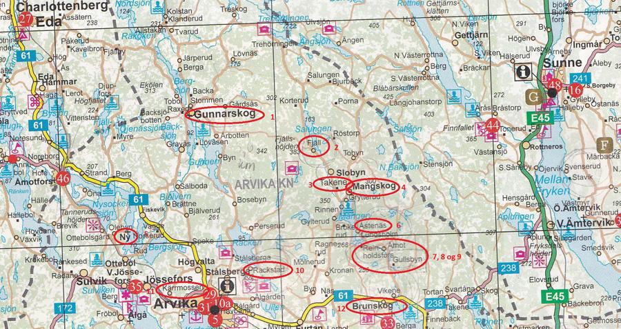 kart over varmland sverige Tabellen 2 kart over varmland sverige