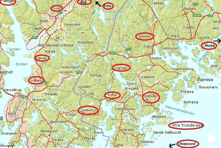 kart høvåg Ny side 1 kart høvåg
